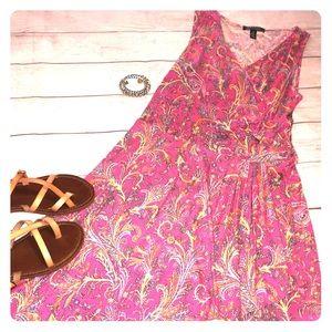 💕Women Ralph Lauren Colorful Medium Dress Pink